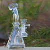"4.5"" Encore Collection Clear Beaker w/Popped Holes Glass Dab Rig - Thick Base (EC-R7705) - Right Side"