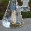 "4.5"" Encore Collection Clear Beaker w/Popped Holes Glass Dab Rig - Thick Base (EC-R7705) - thick thick base"