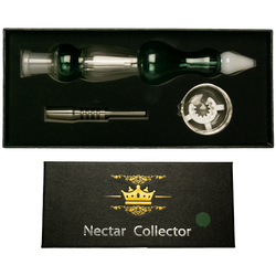 14mm Black Box Assorted Colord Nectar Box Set w/ Stainless Steel Tip, Dish & K-Clip. Assorted Colors