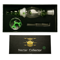 14mm Black Box Assorted Colors Nectar Straw Box Set w/ Stainless Steel Tip, Dish & K-Clip