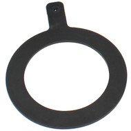Flexible rubber penalty spot marker for painting circles on football pitches.