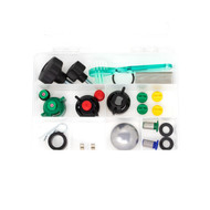 Maintenance kit for spray line markers including spare nozzles, filters and rubber seals.