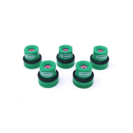 5 pack of green Eco hollow cone nozzles for use with Ecoline+ and Direct ready-to-use grass line marking paints, and Pitchmark spray line marking machines.