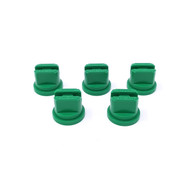 5 pack of green flat fan nozzles for use with Extreme and Clubline concentrate grass line marking paints, and Pitchmark spray line marking machines.