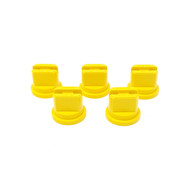5 pack of yellow flat fan nozzles for use with Extreme and Clubline concentrate grass line marking paints, and Pitchmark spray line marking machines.