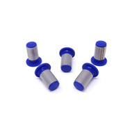 5 pack of blue 50 mesh filter for Pitchmark spray line marking machines.