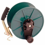 Handheld guide reel to use with string line or polywire when marking out your sports pitches.