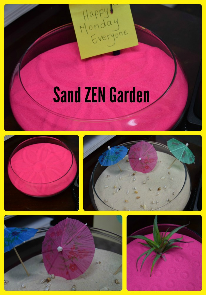 colored sand office zen garden