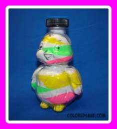 birdy sand art bottle