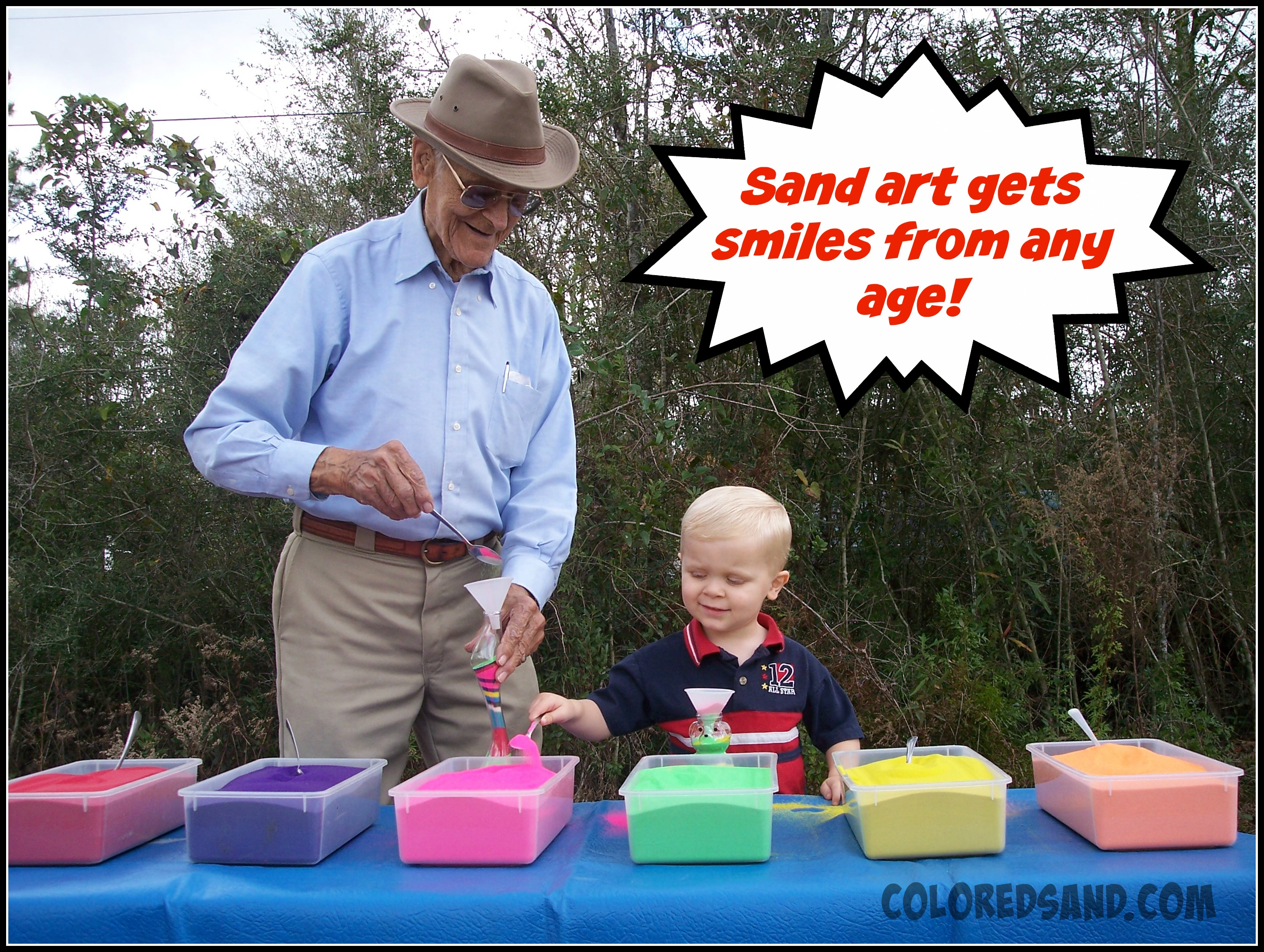 sand art is for the young and old