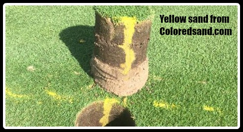 Yellow sand for turf management