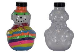 Sand Art Snowman Bottle
