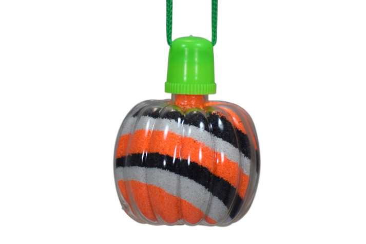 Sand Art Pumpkin Necklace
