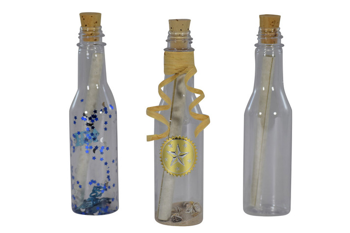 Plastic Message in the Bottle Invitation