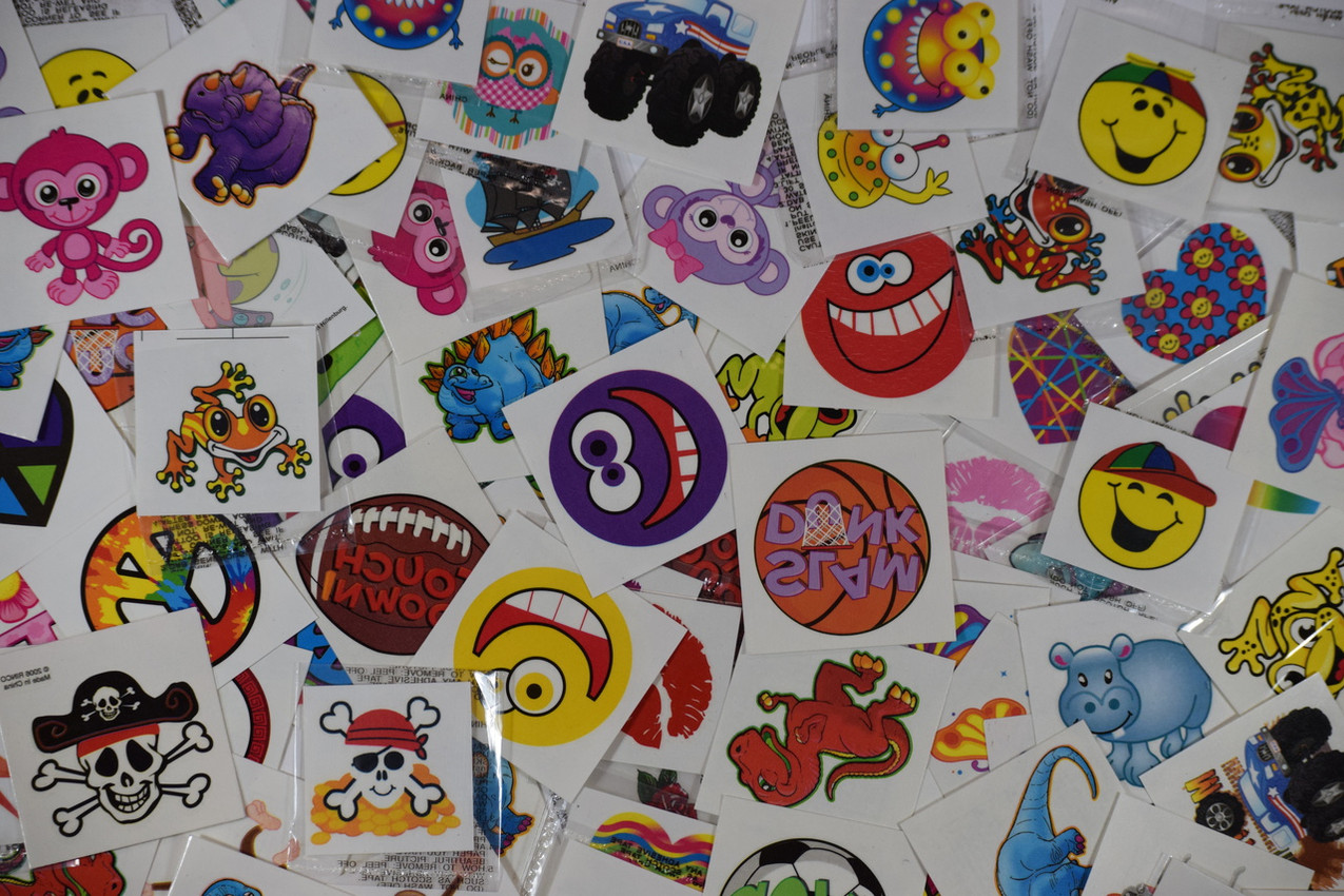 Temporary Tattoo Assortment. Fun For All, For A While