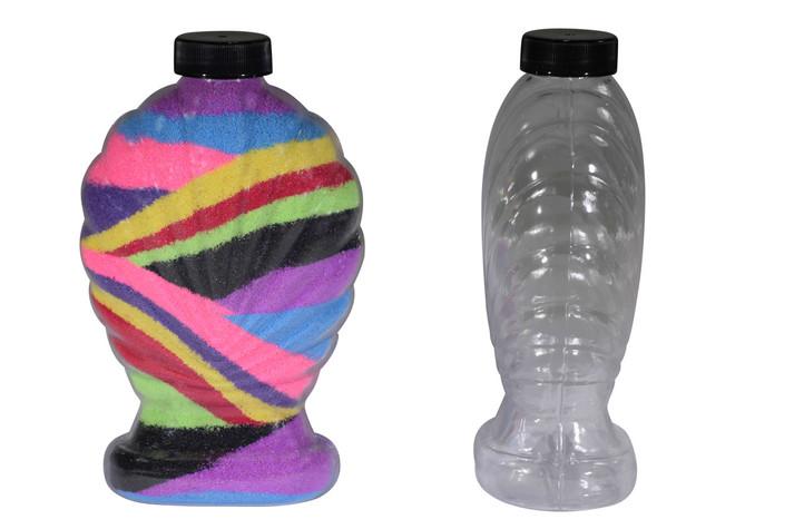 Large Shell Sand Art Bottle