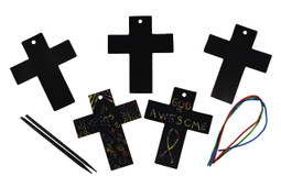 Cross scratch art kit.