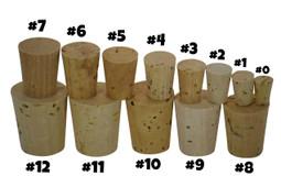 Natural cork for sand art bottles