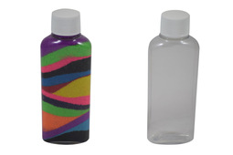 Oval sand art bottle