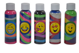 Emoji sand art bottle kit
