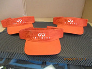 INFINITI-LOT OF 3-BURNT ORANGE VISORS-logo & name in White-Hook and Loop[3005]