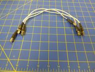 SMA Male to SMA Male 50-Ohm Coax Low Loss Teflon Cable - LOT OF 3