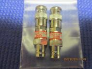 SET OF TWO (2) - New 3dB Attenuator BNC Connector 50 Ohm 1/2 watt