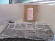 "LOT OF 7-NEW Clear Vinyl Storage bags-w/ WHITE ZIPPER/TRIM 9.5"" x 11.5""X 5.5"""