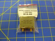 ANZAC Power Divider Splitter / Combiner 1-1800Mhz SMA Connectors