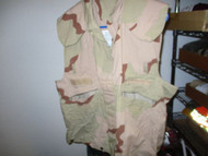 USGI Military PASGT Vest Flak Cover Desert 3-Color Camo-SMALL/MEDIUM-PREOWNED