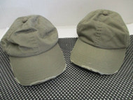 1 NEW VINTAGE OLIVE GREEN CAPS/HATS-DISTRESSED-6 PANEL-BUCKLE-OC-UNS[A202