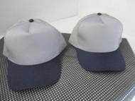 1 PAIR NEW-DK GRAY CAP HAT NAVY/DK BLUE BILL/BUTTON-5 PANEL-TRUCKER-OTTO[A146