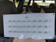 19 Inch Rack Mount Panel With 24 Bulkhead N Female Connectors N to N Jack Plug
