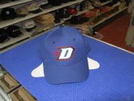 "DEPAUL BLUE DEMONS-BLUE CAP W/ ""D"" WHITE OUTLINED IN BLUE,BLACK,RED-SIZE 6 3/4"
