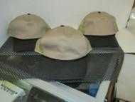 LOT OF 3 Dark Khaki Trucker cap hat w black bill rope button 5 PANEL by OC