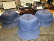 LOT OF 3 NEW DARK NAVY BLUE FULL PUFFY CAP HAT BLANK SNAPBACK ROPE by COBRA