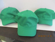 LOT OF 3 NEW GREEN CAP HAT 6 PANEL SNAPBACK COTTON BLEND OSFM BY OTTO