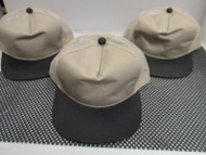 LOT OF 3 NEW KHAK TAN cap hat BLACK BILL BUTTON 5 PANEL TRUCKER by OC