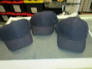 LOT OF 3 NEW VINTAGE ALL DARK BLUE/NAVY CAP HAT 6 PANEL BUCKLE SOFT by MOHRS