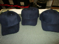 LOT OF 3 NEW VINTAGE ALL DARK BLUE/NAVY CAP HAT 6 PANEL HOOK COTTON by OTTO