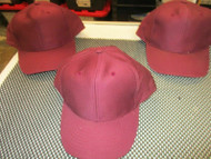 LOT OF 3 NEW VINTAGE ALL MAROON CAP HAT SNAPBACK 6 PANEL MOHR'S