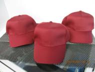 LOT OF 3 NEW VINTAGE DARK RED MAROON CAP HAT 5 PANEL HOOK & LOOP SUN CAP
