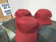 LOT OF 3 NEW VINTAGE BURGUNDY CAP HAT 6 PANEL SNAPBACK by NISSUN