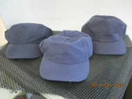 LOT OF 3 NEW VINTAGE MIXED SHADES OF NAVY BLUE CAP HAT 6 PANEL-HOOK- BY FALCON