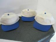 LOT OF 3 NEW VINTAGE NATURAL CAPS/HATS-BLUE BILLS /ACCENTS-5 PANEL-SNAP-MO[3103