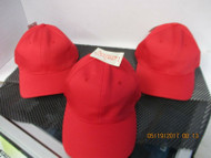 LOT OF 3 NEW VINTAGE RED CAP HAT 6 PANEL JUST FITS SIZE S/M (6 3/4-7 1/4)