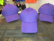LOT OF 3 PURPLE CAP HAT 6 PANEL FULL SPORTS MESH HOOK & LOOP COBRA-[A189]
