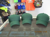 LOT OF 3-DK GREEN CAP HAT 6 PANEL TEAM MLB HOOK & LOOP BY OUTDOOR by OSFM