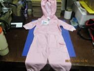 MLB CINCINNATI REDS 2PC INFANT GIRLS PINK WHITE ZIPPED HOODIE PANTS SET