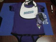 MLB ARIZONA DIAMONDBACKS 3PC INFANT SET CREEPER BODYSUIT BIB BOOTIES